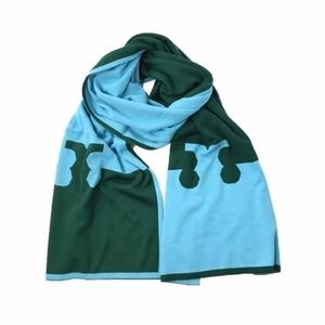 Tory Burch Serif-T Long Scarf, Norwood/River